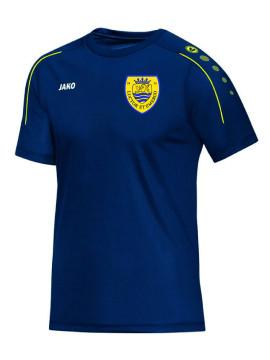 T-shirt Classico nachtblauw-citroen